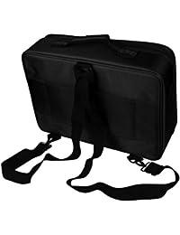 Hatop Professional Makeup Bag Cosmetic Case Storage Handle Organizer Artist Travel Kit (Black)