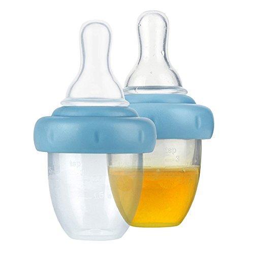Yunt 2pcs/Pack Baby Medicator Medizin Dropper mit Nippel,Fruchtsauger Schnuller zum Verzehr von Obst und Medizin