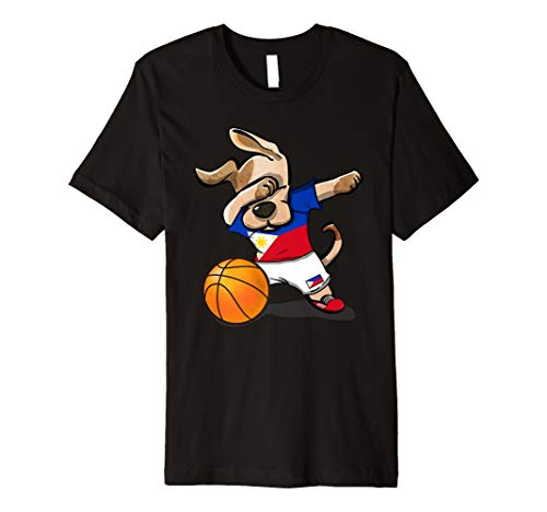 Dance Team-t-shirts (Dog Dabbing Basketball Philippines Jersey Shirt - Bball Gift)