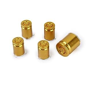 Ersatz Set von 5 Stück Aluminum Gewehrkugel Tasten Tasten für Xbox 360 Controller Golden