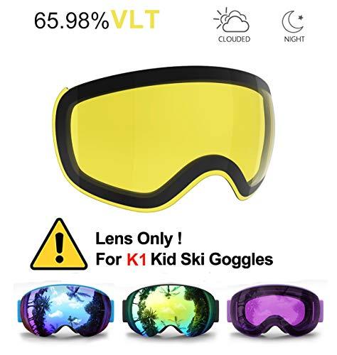 Skibrille Kinder, eDriveTech Ski Snowboard Brille Brillenträger Schneebrille Snowboardbrille Verspiegelt für Jungen Mädchen Junior Alter 3 4 5 6 7 8 9 10 11 12 13 14 15 Jahre OTG UV Schutz Anti Fog