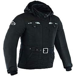 JET Chaqueta Moto Mujer Ligero Textil Impermeable con Armadura TASLAN (L (ES 40), Negro)