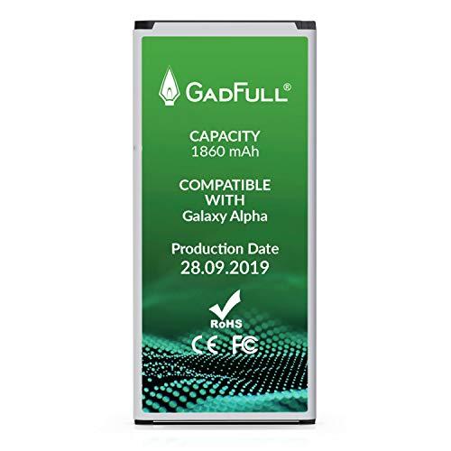 gadfull batteria compatibile con samsung galaxy alpha   2019 data di produzione   corrisponde al eb-bg850bbe originale   compatibile con alpha g850f   batteria per il tuo smartphone