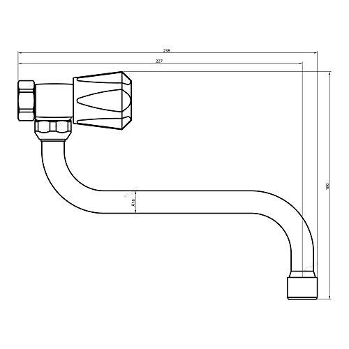 Spültischarmatur Wandarmatur Wasserhahn Spülbeckenarmatur Küchenarmatur Zweigriff Küchenarmatur -