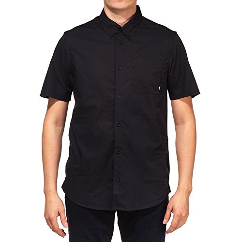 Nike SB Mens Holgate Lightweight SS Woven Black Shirt 728021-010 (Large)
