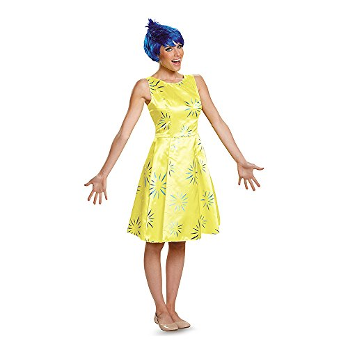 Disney Pixar's Inside Out Joy Deluxe Adult Costume Medium (Halloween Out Inside Kostüme)