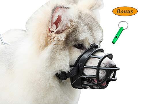 JeonbiuPet mascota bozales de perro, perro boca cubierta de suave silicona transpirable ajustable perro cesta bozal para entrenamiento penetrante ladrido masticación jadeando (Size 2)