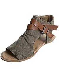 UOMOGO® Estive Donna Moda Sandali Comfort Toe Sandali Scarpe Camminare  Piattaforma 1ea1222cfcb