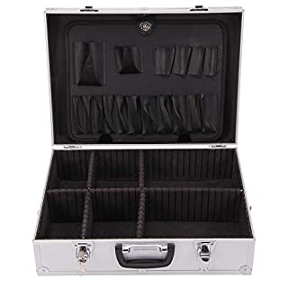 Quieting Aluminium Flight Case Toolbox Tool Organiser Lockable Storage Box 2 Combination Locks
