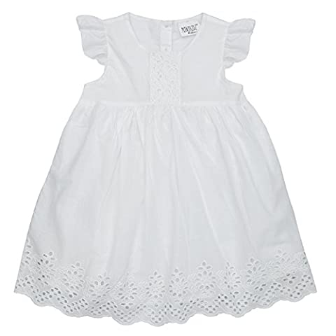 Girls Floral Broderie Dress (Ages 2-8 Years) Flower Girl Bridesmaid Wedding Outfit