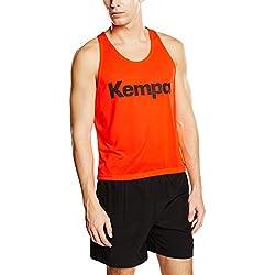 Kempa Shirt Markierungshemd - Camiseta sin mangas de balonmano para hombre, color naranja, talla XL