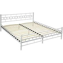 Metallbett weiß 180x200  Suchergebnis auf Amazon.de für: metallbett 180x200 weiß