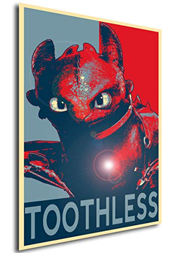 Instabuy Poster Dragon Trainer Propaganda Toothless - Formato A3 (42x30 cm)