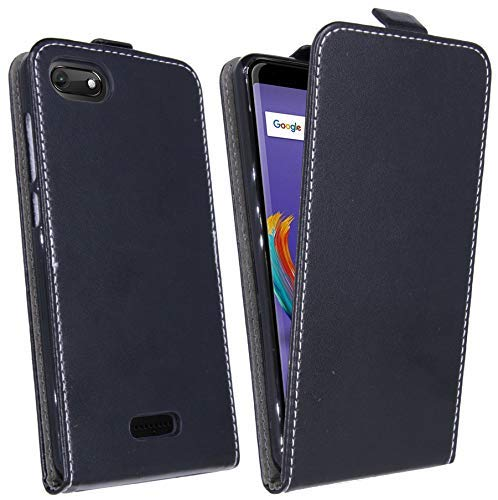 cofi1453 Klapptasche Schutztasche Schutzhülle kompatibel mit Wiko Harry 2 Flip Tasche Hülle Zubehör Etui in Schwarz Tasche Hülle