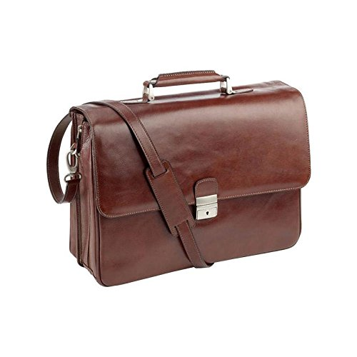 Dermata Leder Aktentasche mit Laptopfach 15 Zoll vollrindleder / cognac vollrindleder / cognac