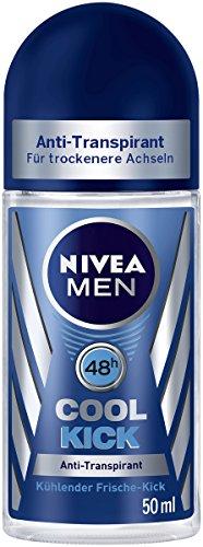 Nivea Roll (Nivea Men Cool Kick Deo-Roller, Anti-Transpirant-Schutz, 6er Pack (6 x 50 ml))