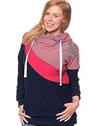 Beiersi Damen Stillshirt Umstandsmode Kapuzenpullover Schwanger T-Shirt Umstandsshirt Stilltop Stillpulli Umstandstop Schwangere Sweatshirts Langarmshirt Hoodie