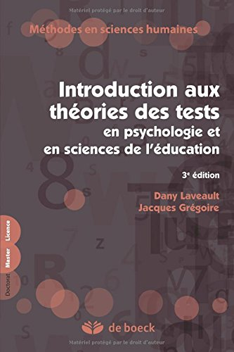 Introduction aux thories des tests en psychologie et sciences de l'ducation