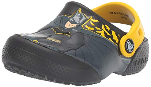 crocs Unisex-Kinder Crocsfl Iconic Batman K Clogs, Schwarz (Black 001), 30/31 EU -