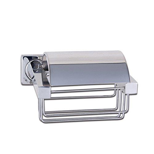 304 Edelstahl Toilettenpapierhalter,Einfache Robuste Papierrollenhalter Mit Deckel Küche Bad Gewebe Halter Lagerregal
