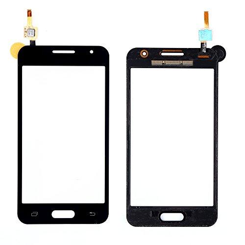 Samsung Galaxy Core 2 Duos SM-G355H G355 Touch Screen Digitizer Schermo Vetro (Senza LCD Display) di Ricambio e Strumenti Gratuiti (Nero)