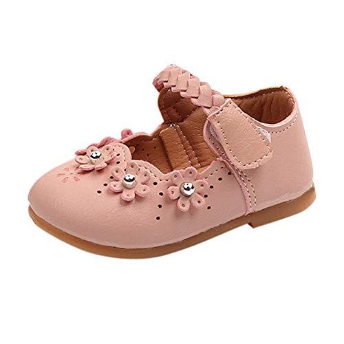 K-youth Flores Zapatos de Baile Zapatos Bebe Niña con Suela Primeros Pasos Bautizo Zapatos de Princesa...