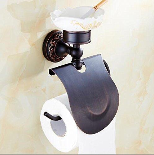 Die neuen Bad-Accessoires,Sucastle Amerikanische schwarze Kupfer Papier Handtuch Rack Toilettenpapier WC-Papierrolle Papier Box WC-Papier Handtuch Toilettenkasten,B Antike europäischen Stil -