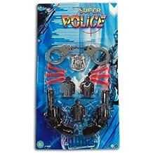 Pfeilpistole Kinder Pistole 2 Stück mit 6 Pfeilen Polizeimarke