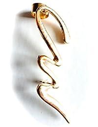 Réf048 BO.175 - Boucle D'oreille Fantaisie - Ear Cuff Zig Zag Métal Doré
