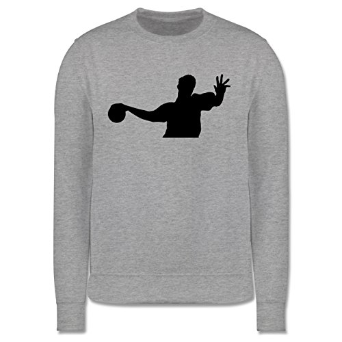 Handball - Handball - Herren Premium Pullover Grau Meliert
