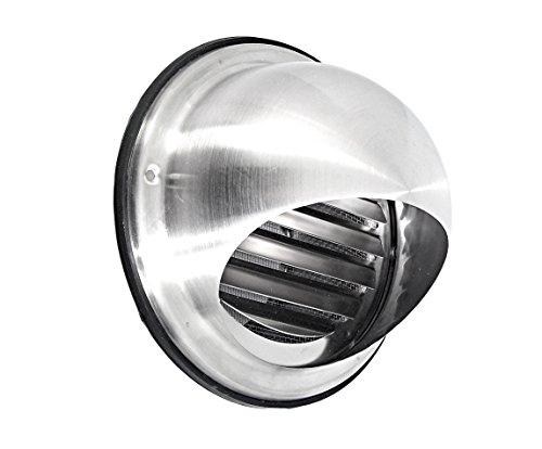 Preisvergleich Produktbild Intelmann Edelstahl Wetterschutzgitter Ø 125 Kugelform + Insektenschutzgitter