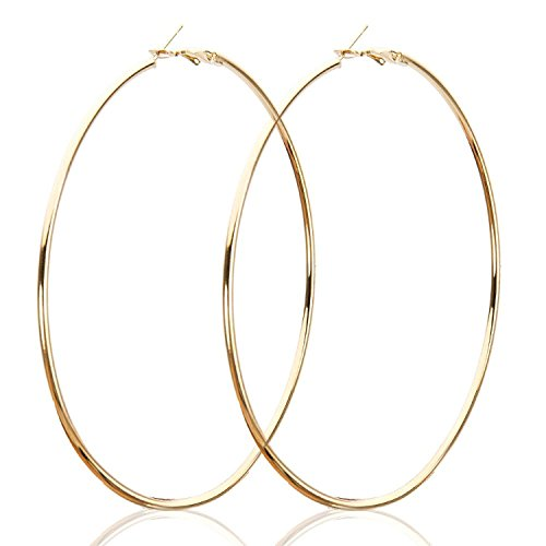 STRIPES PRESENTS Friendship Day Special Large Big Circle Gold Polish, Hoop Earrings...