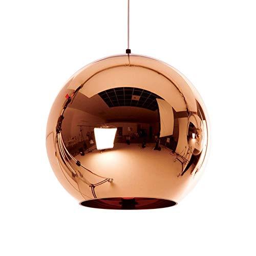 JIE Moderne Goldenen Ball Anhänger Lichter Kupfer Glas Spiegel Ball Hängen Lampe Küche Moderne Leuchten Hängen Licht,Bronzed,Diameter20cm