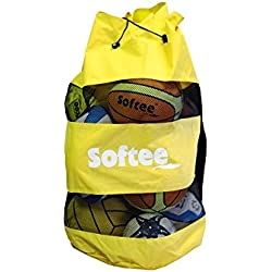 Softee Equipment 0004146 Saco Portabalones, Hombre, Blanco, S
