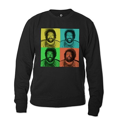 Bud Spencer Herren B.Joe Fotoautomat Sweatshirt (schwarz) (M)
