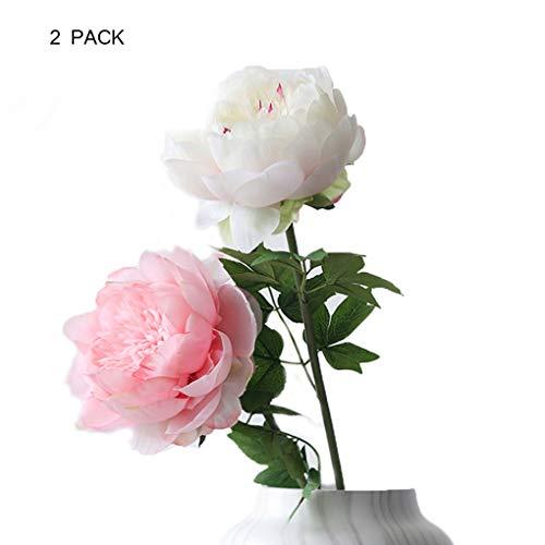 Sarazong Pivoine Artificielle Fleur Faux Fleur De Haute Qualité Pivoine Fleur Artificielle Fleur, Éternel Fleur Décoration De Sol Arrangement De Fleurs Faux Fleur,pinkandwhite