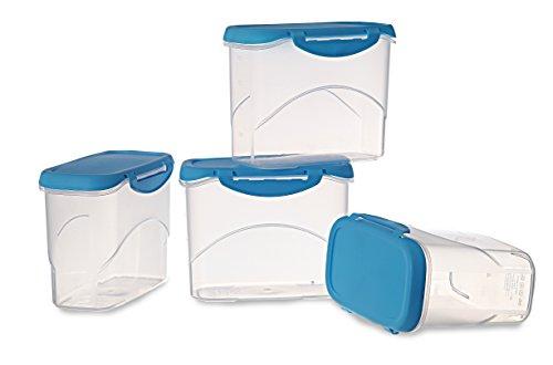 All Time Plastics Delite Container Set, 1 Litre, Set of 4, Blue