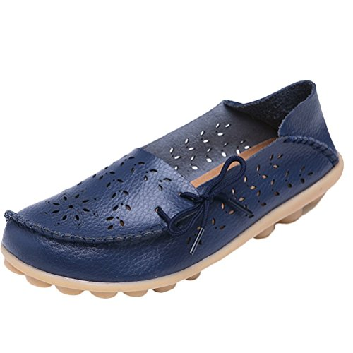 Vogstyle Moccasin Femme Casual Plat Tout-match Chaussures 33-43 Style-2 Navy