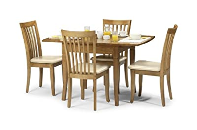 Julian Bowen Newbury Dining Table, Maple Colour - low-cost UK dining table shop.