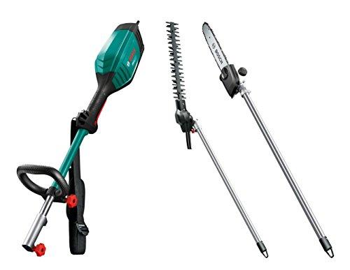Bosch Antriebseinheit AMW 10 (Motoreinheit, 1000 Watt) + Bosch Heckenschneidervorsatz AMW HS (Messerlänge 43 cm, 1000 Watt) + Bosch Hochentaster-Aufsatz AMW SG (30 cm Schwertlänge, 1000 Watt)