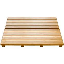Ridder 21105211 Grating - Alfombra de baño de madera (52 x 52 cm), color marrón claro