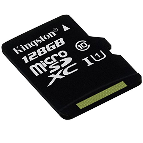 Kingston Scheda MicroSDHC/SDXC Classe 10 UHS-I, 128 GB, Velocità Minima di 10 MB/s, con Adattatore SD