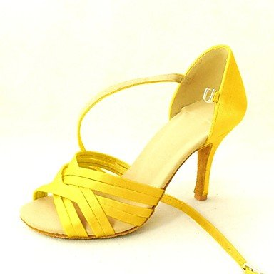 ballo black Giallo Latinoamericano Heel Viola da Customized Black Rosa Satin Scarpe us5 cn34 eu35 Nero Blu Donna uk3 Salsa OYpq5tvw