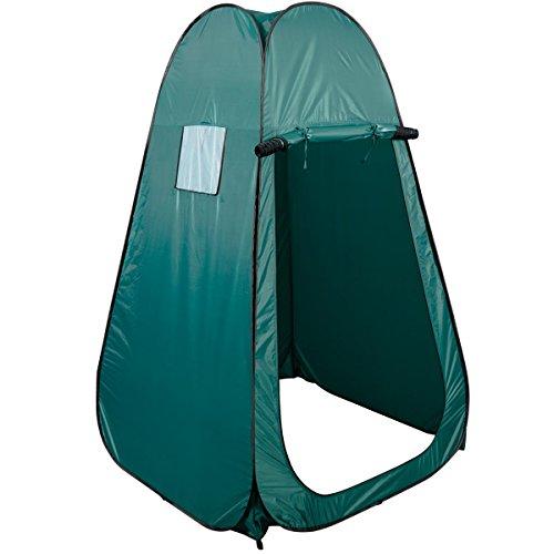 Strand Duschzelt Campingzelt Trekkingzelt Wanderzelt Umkleidezelt Toilettenzelt Beistellzelt Largezelt Kabine Pop-up 120 x 120 x190 cm (Grün)