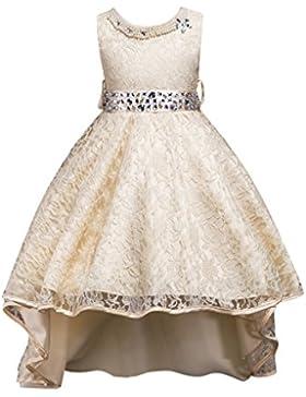 Brightup Ragazza lunga coda principessa partito bel vestito, vestito da pizzo ragazza
