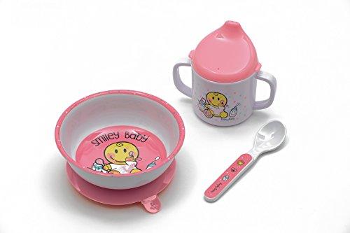 Zak designs 6706-3380  Smiley Baby Geschirr 3-er set in Geschenkbox, pink