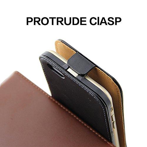 """BELK Étui à rabat pour iPhone 6S/iPhone 6 gonflé cushiony minimale Housse sans support carte, Cuir, classic black, iPhone 6 / 6s - 4.7"""" classic black"""
