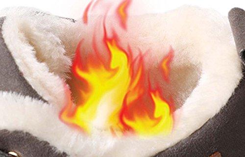 Scarpe calde scarpe casual scarpe scarpe da donna in pelle moda Scarpe calde scarpe comode scarpe invernali in pizzo Black