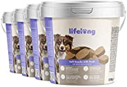 Amazon-Marke: Lifelong - Hundeleckerli, reich an Protein, mit Ente (4 x 500gr Becher)