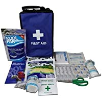 Koolpak 49 Piece Premium Compact Cold Therapy Sports Team First Aid Kit Bag